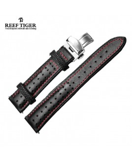 Reef Tiger Space Noddle Leather Strap - Red Line