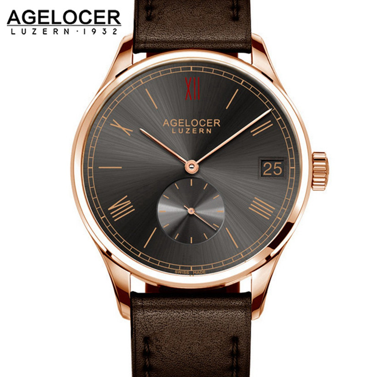 Agelocer Luzern 40mm Rose Gold 1104D1
