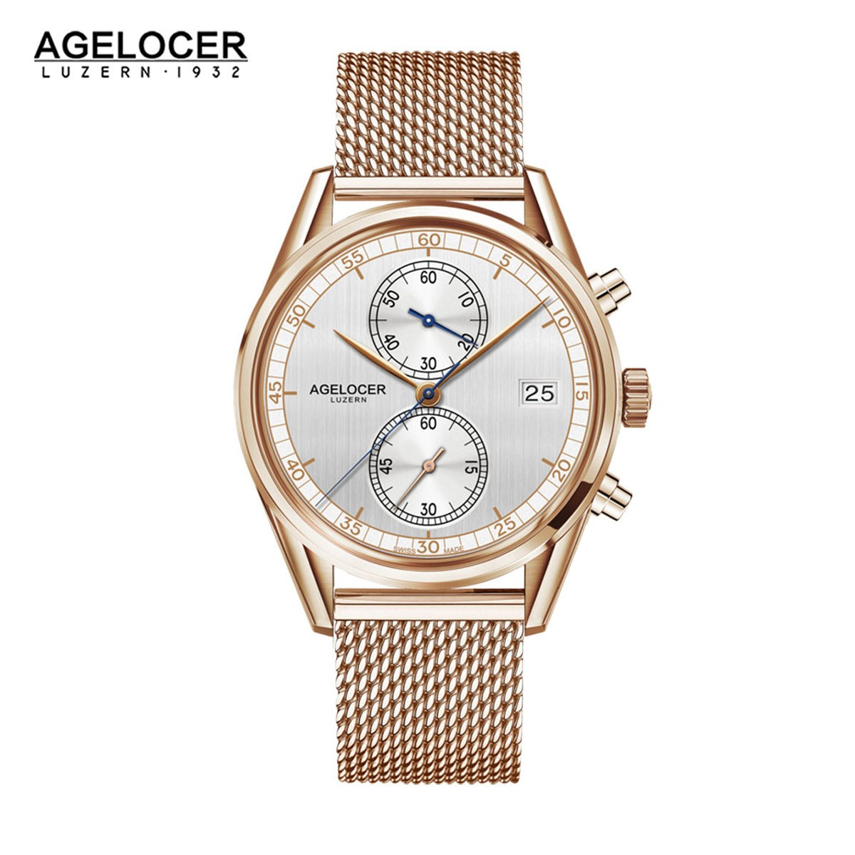Agelocer Trinidad 40mm Rose Gold 2102D9