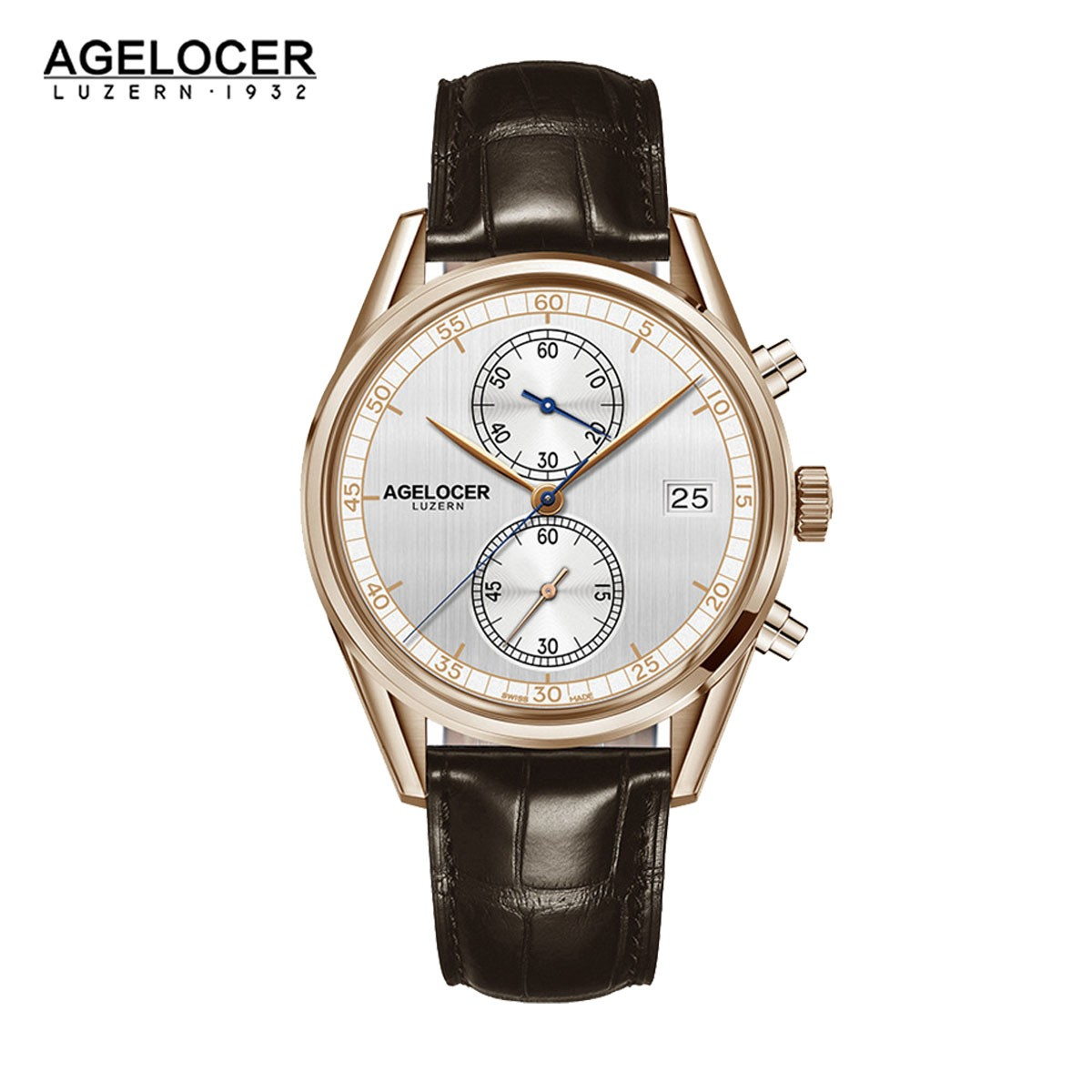 Agelocer Trinidad 40mm Rose Gold 2102D2
