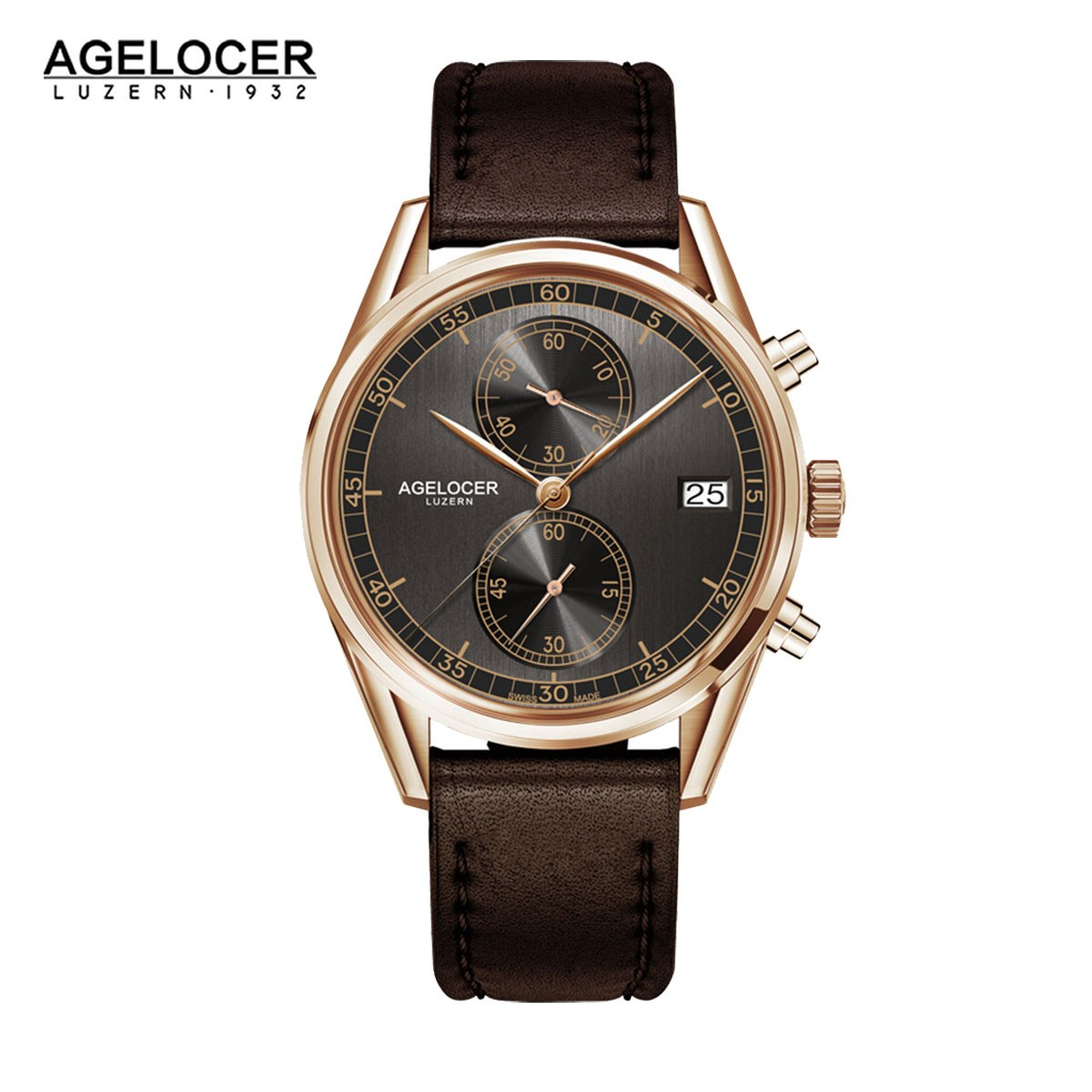 Agelocer Trinidad 40mm Rose Gold 2104D2