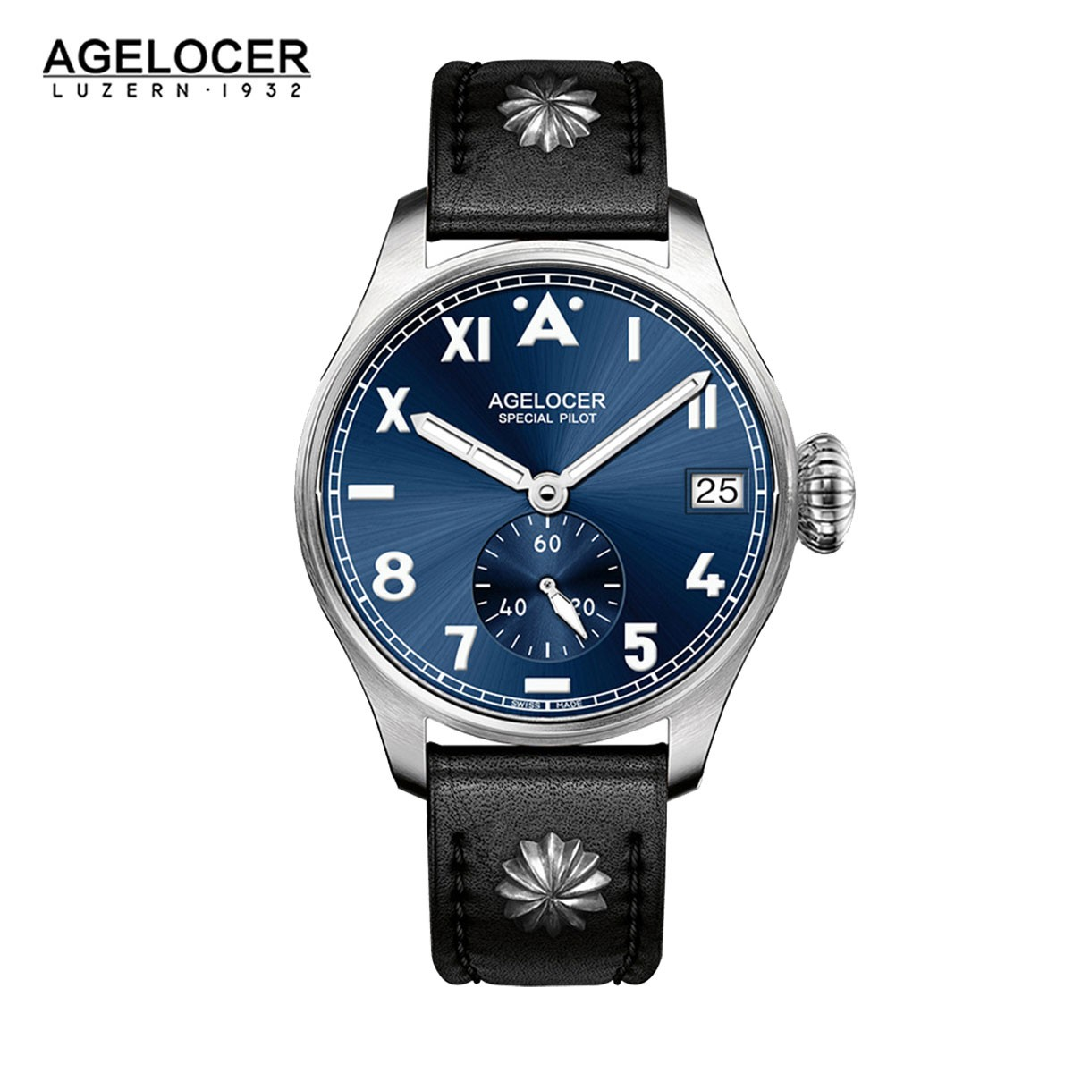Agelocer North Carolina 42mm Steel 3102A1