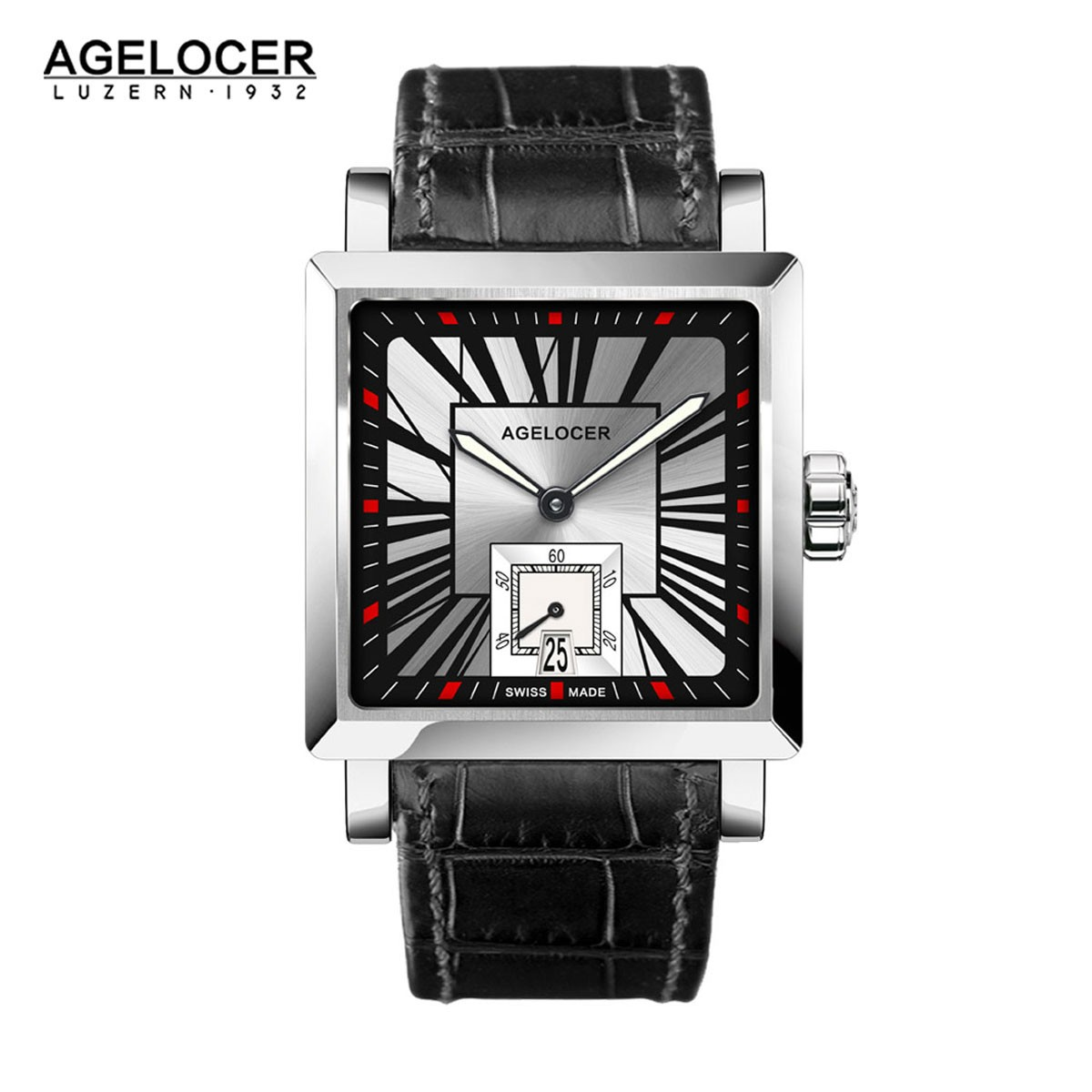 Agelocer Codex 35*34.5mm Steel 3301A1