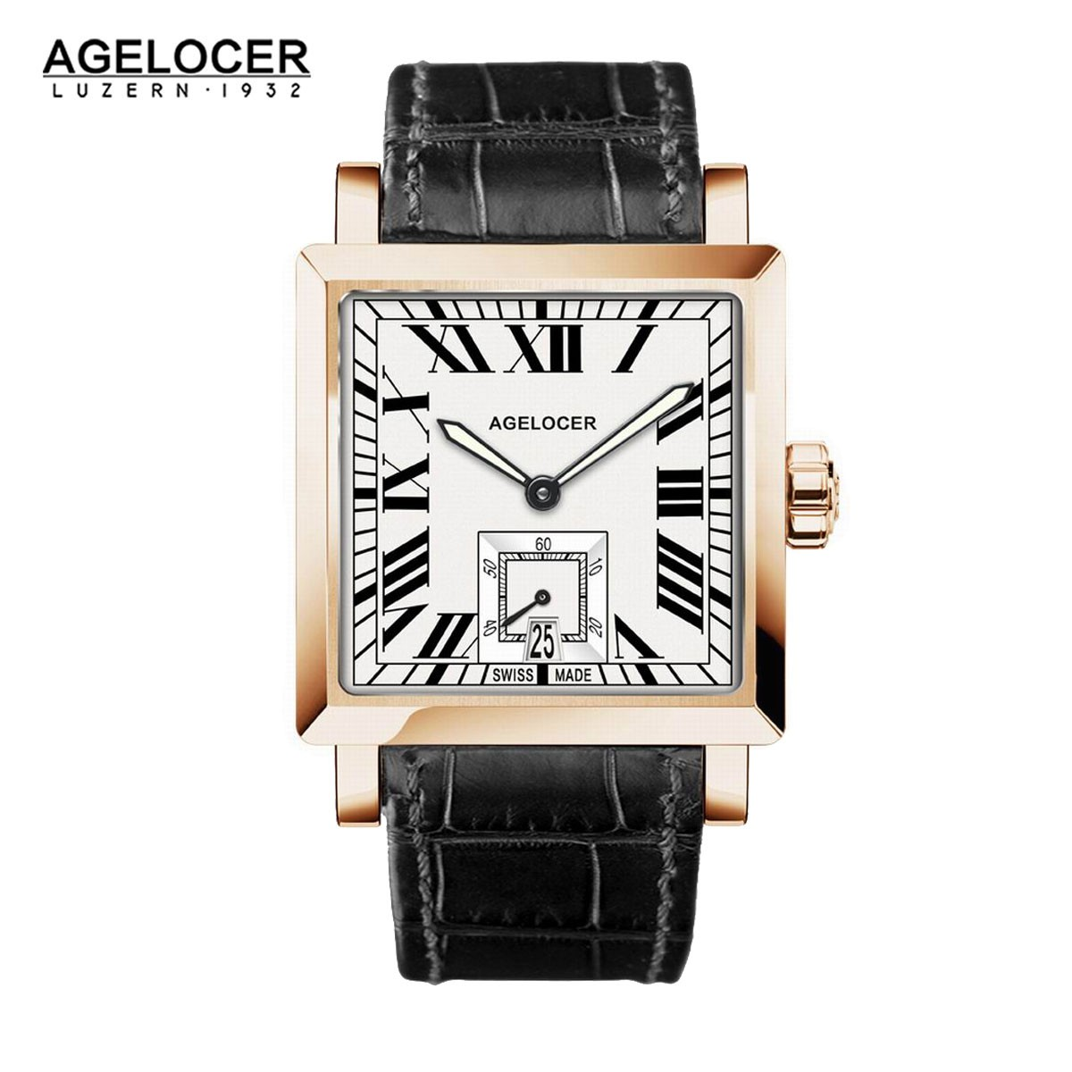 Agelocer Codex 35*34.5mm Rose Gold 3302D1