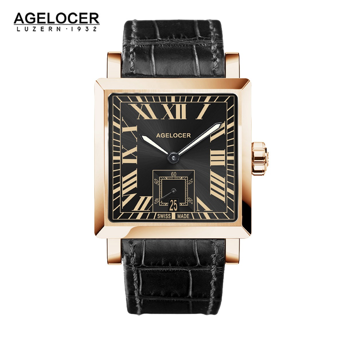 Agelocer Codex 35*34.5mm Rose Gold 3303D1