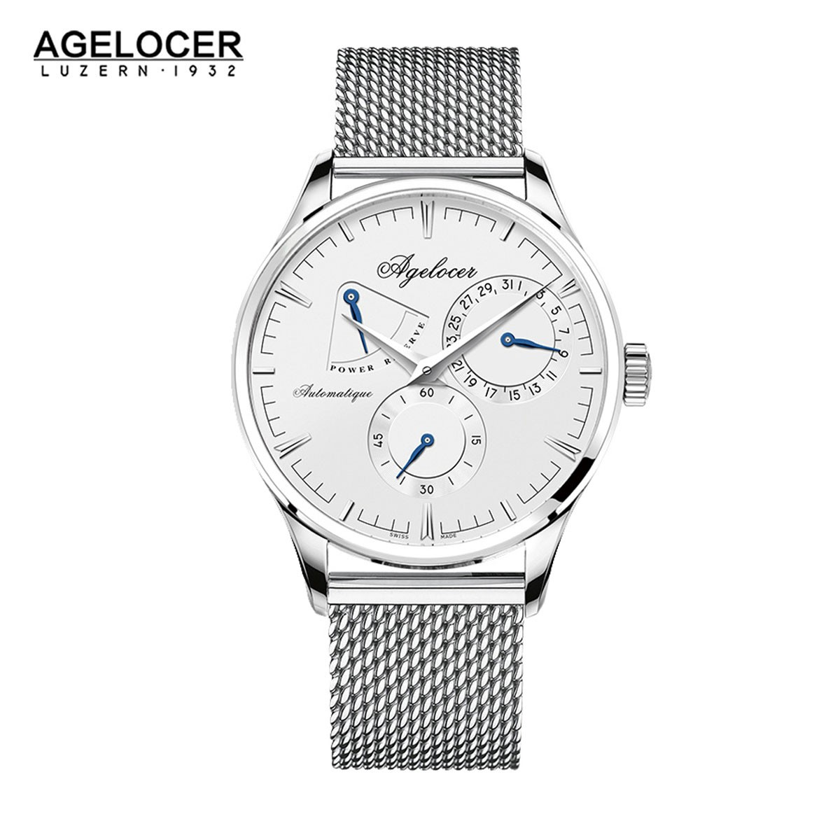 Agelocer Budapest 40mm Steel 4101A9