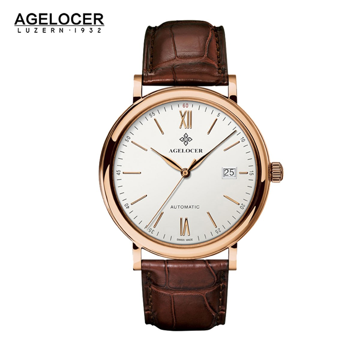 Agelocer Spirit 40.5mm Rose Gold 7061D2