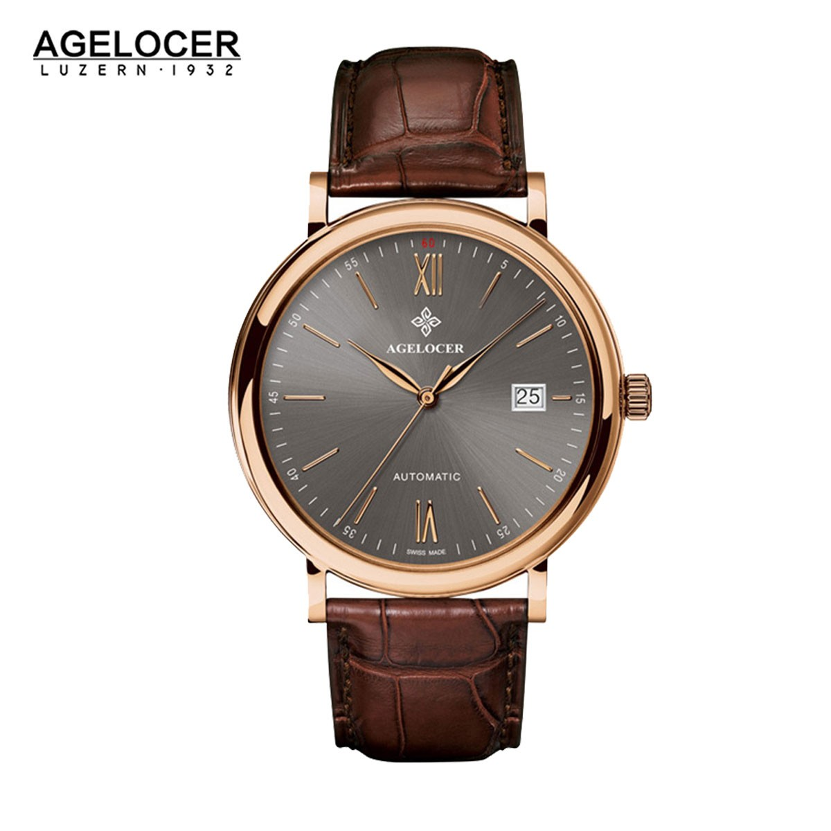 Agelocer Spirit 40.5mm Rose Gold 7063D2