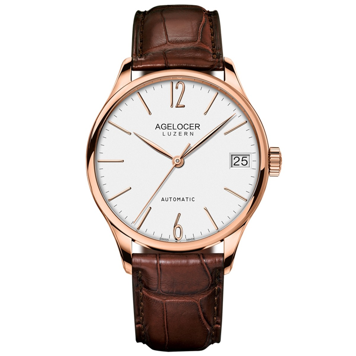 Agelocer Spirit 40mm Rose Gold 7071D2