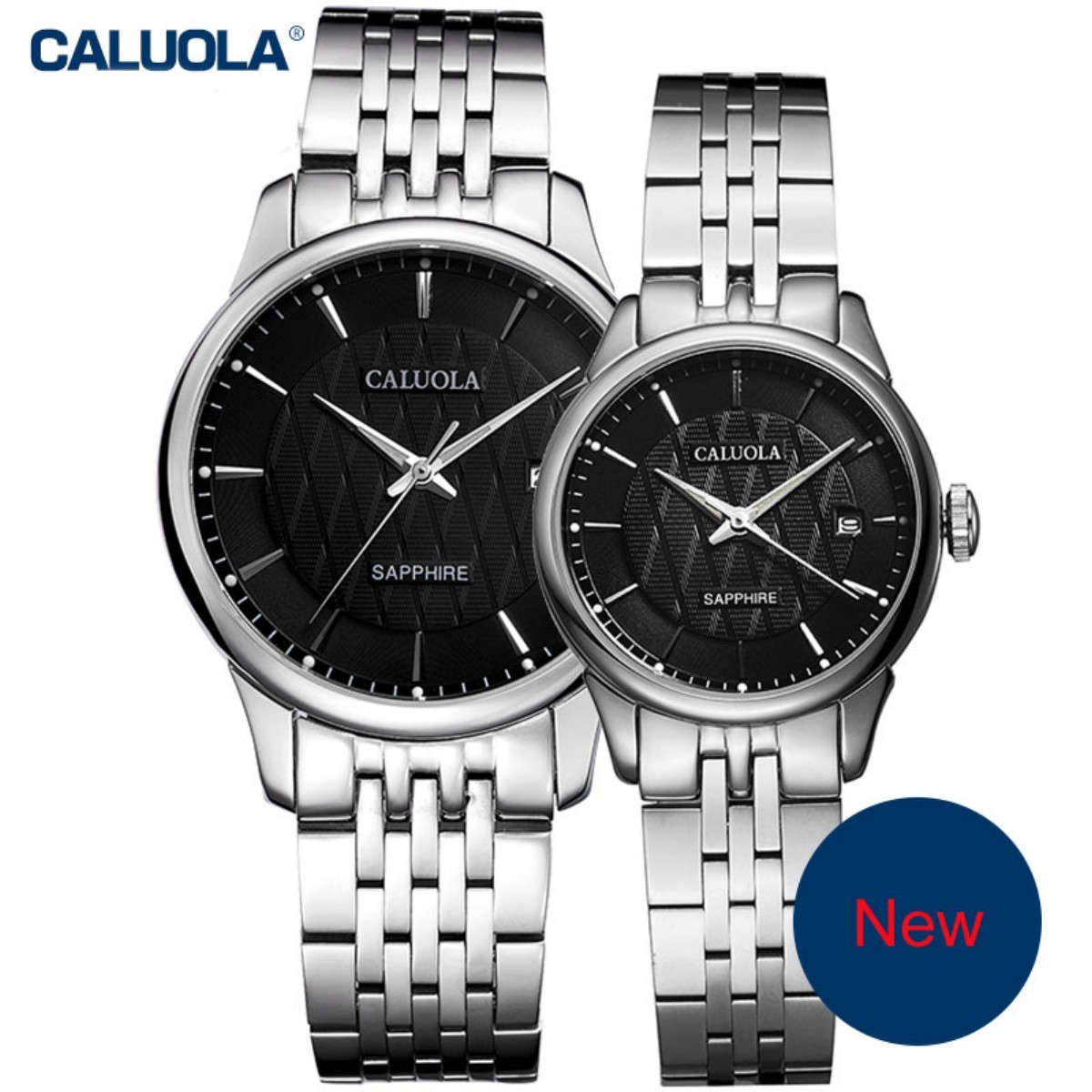 Caluola Couple Watch 40/29mm Steel 1022