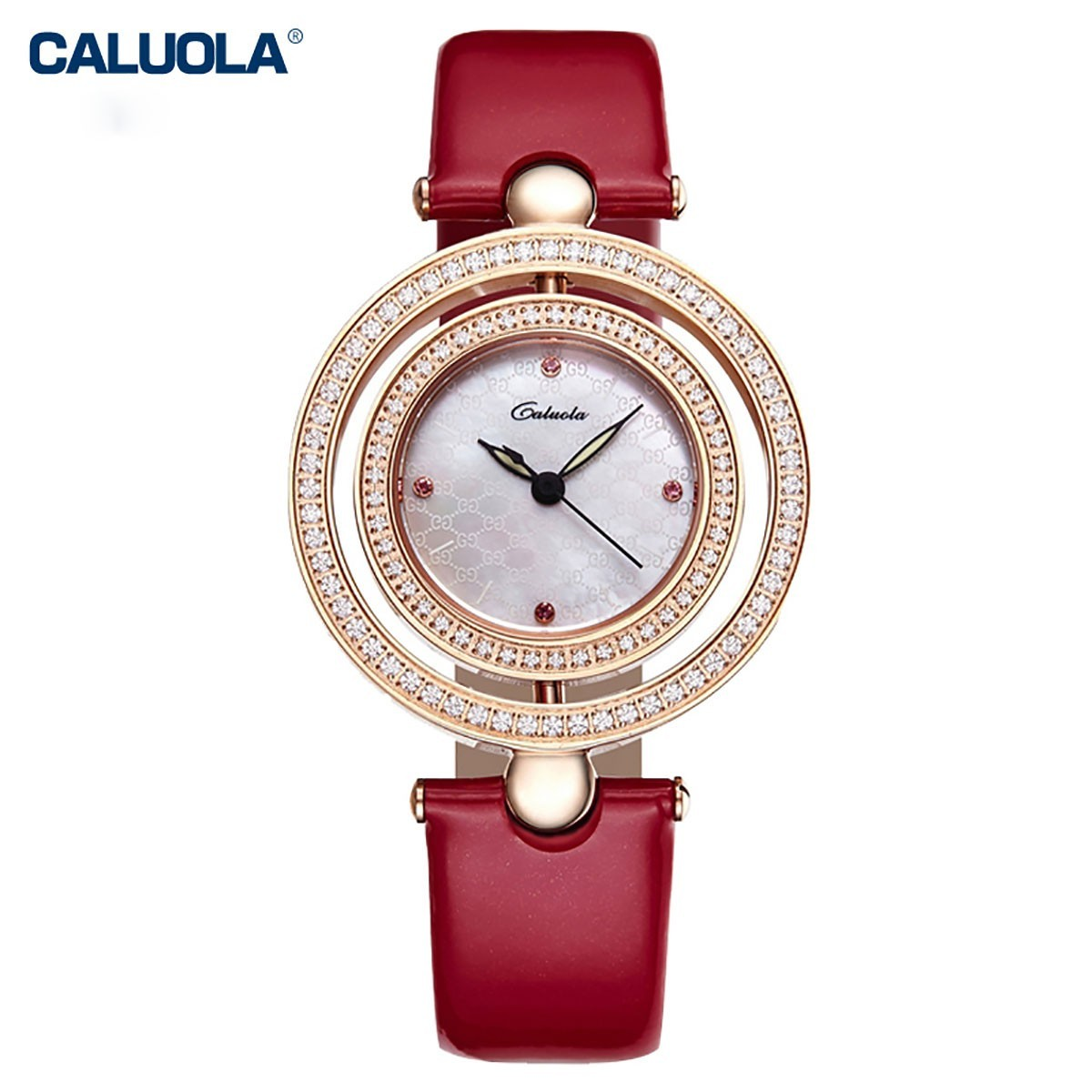 Caluola Women Watch 34mm Rose Gold 1105