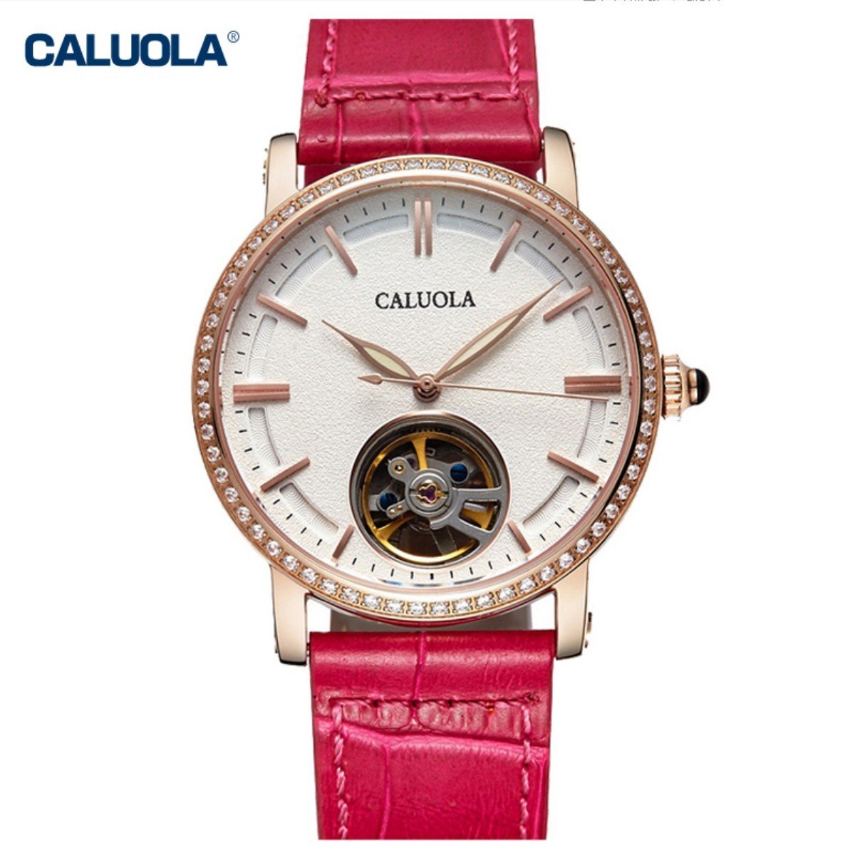 Caluola Women Watch 38mm Rose Gold  1115