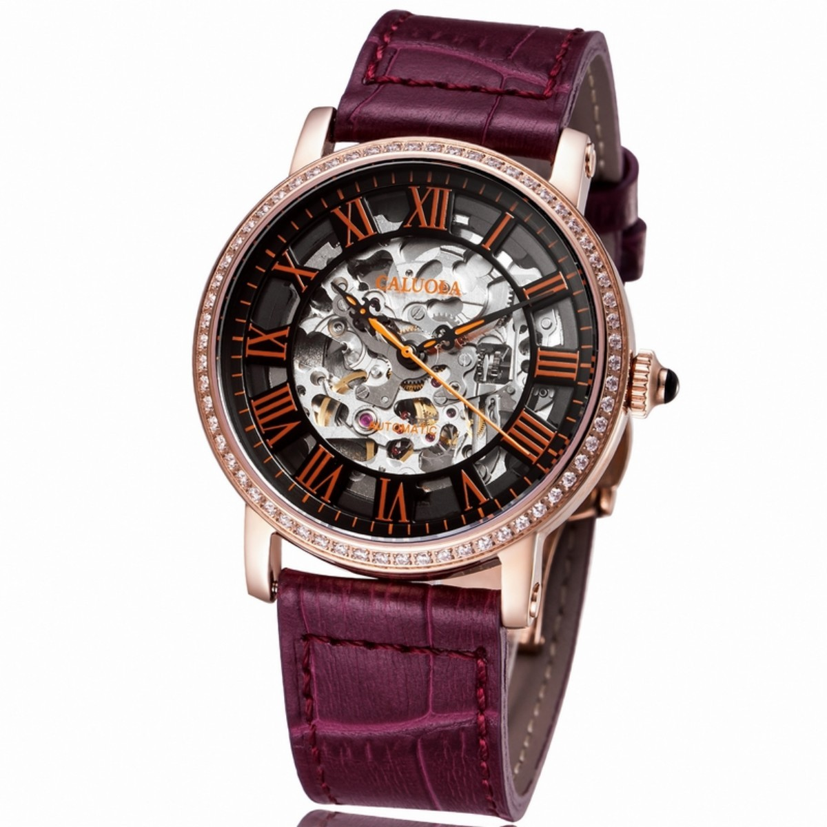 Caluola Couple Watch 35mm Rose Gold 1115