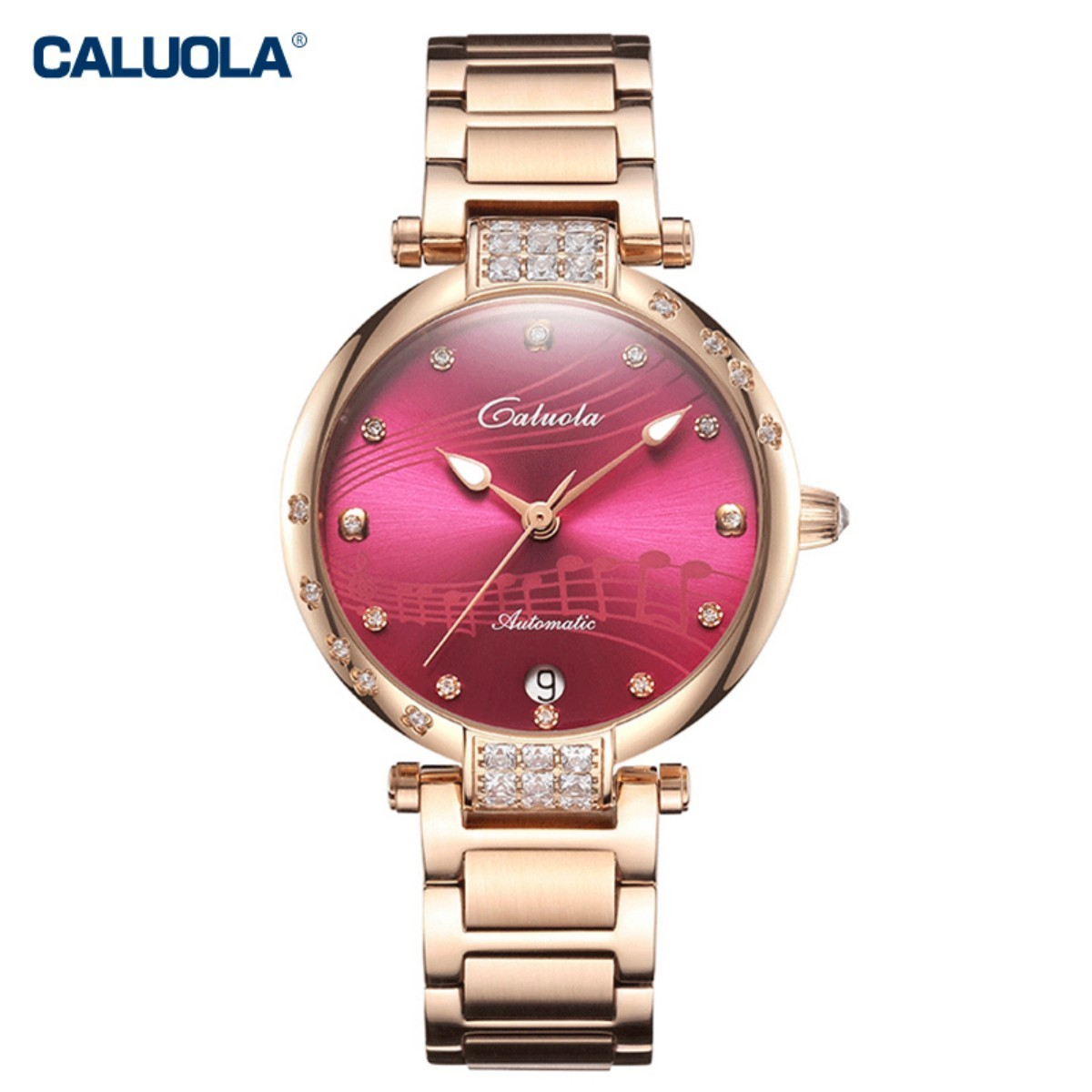 Caluola Women Watch 34mm Rose Gold 1171