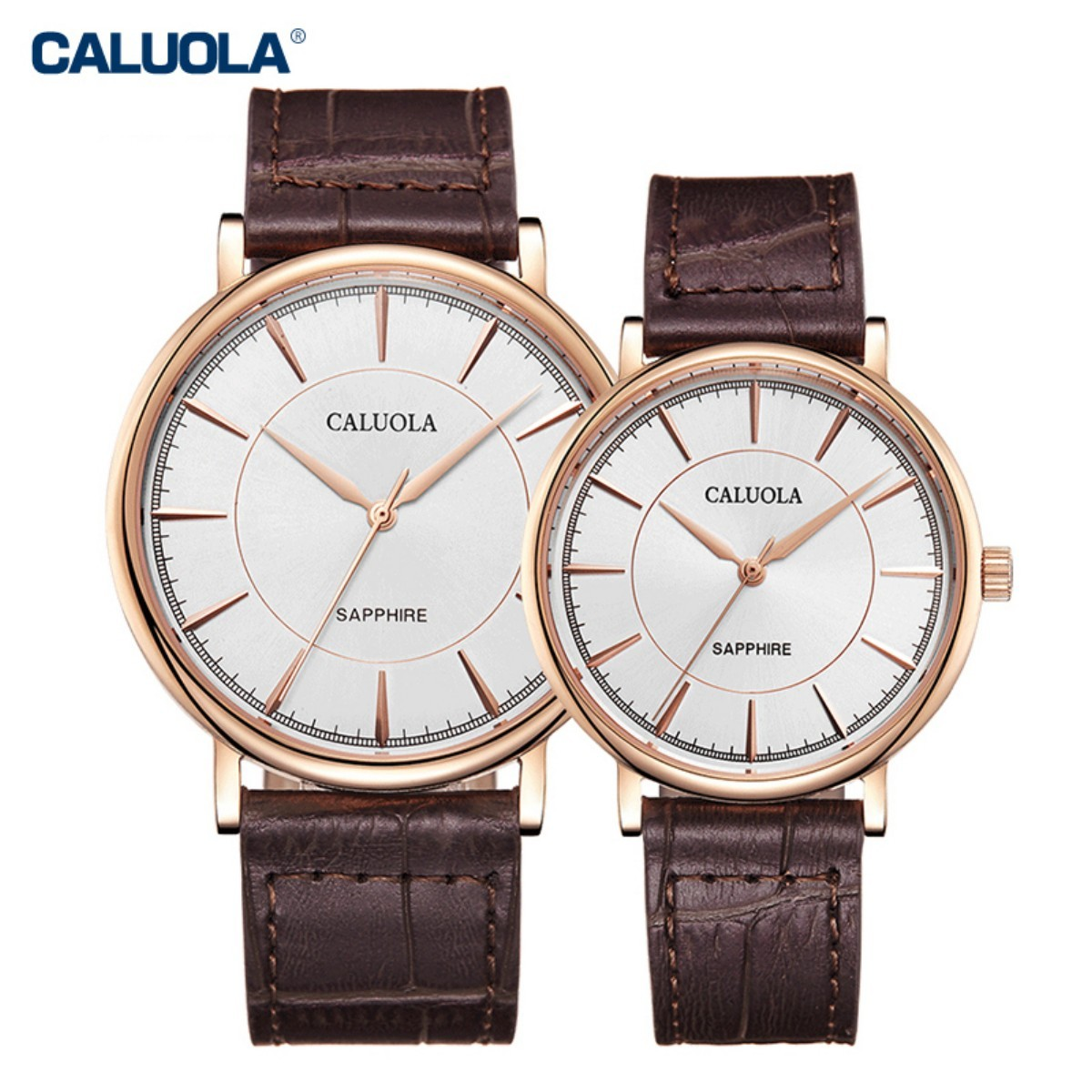Caluola Couple Watch 40/30mm Rose Gold 1178