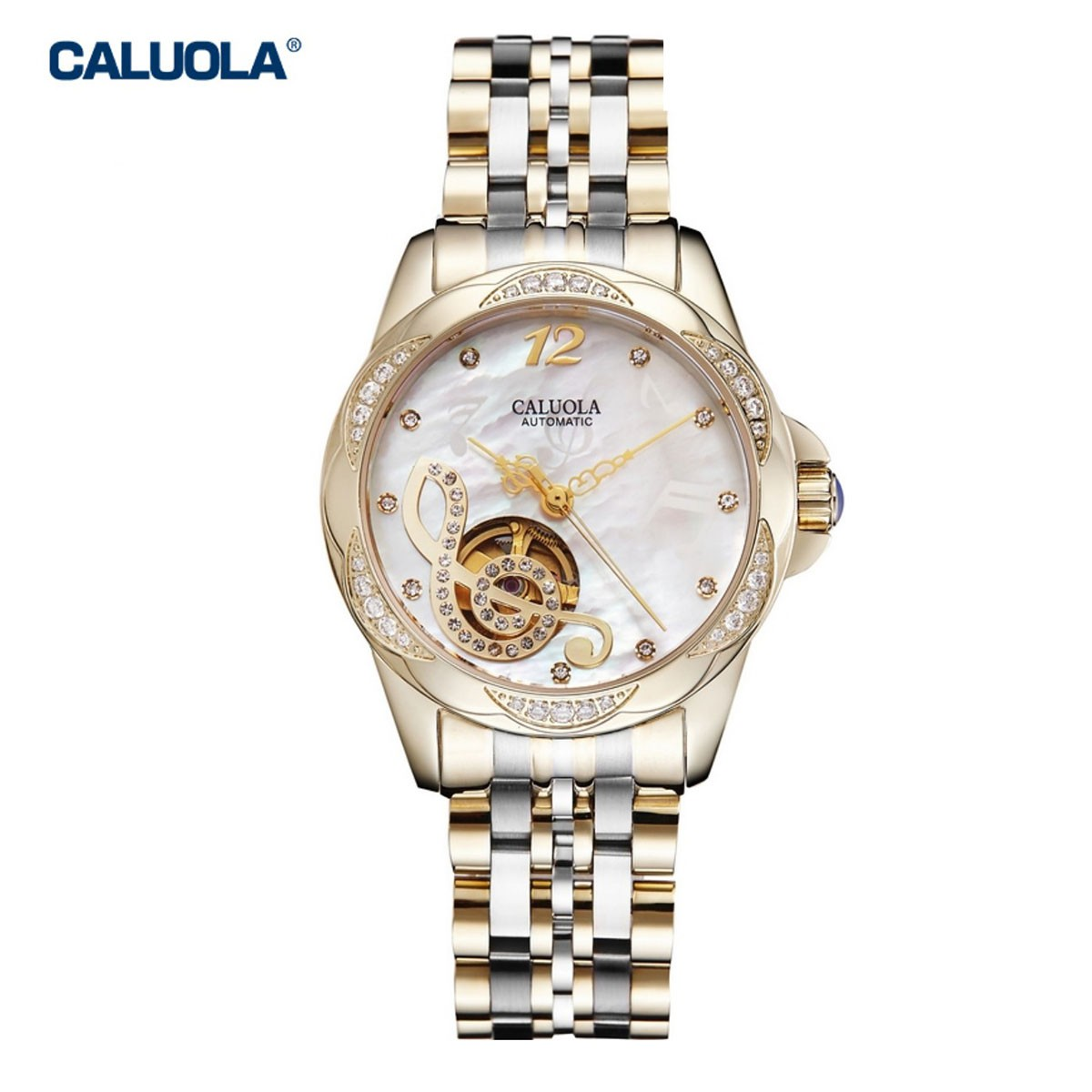 Caluola Women Watch 28mm Yellow Gold  1181