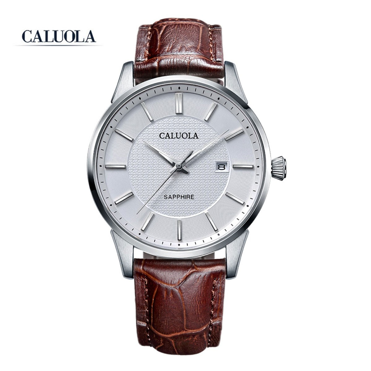 Caluola Men Watch 41mm Steel CA1215