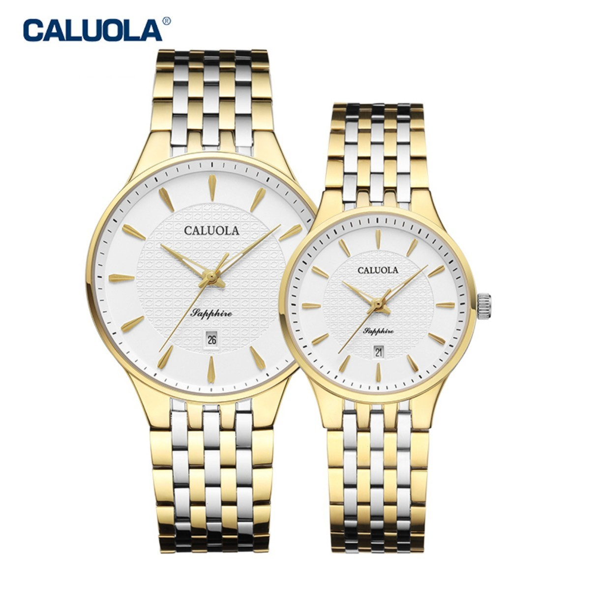 Caluola Couple Watch 40/30mm Two Tone 1217