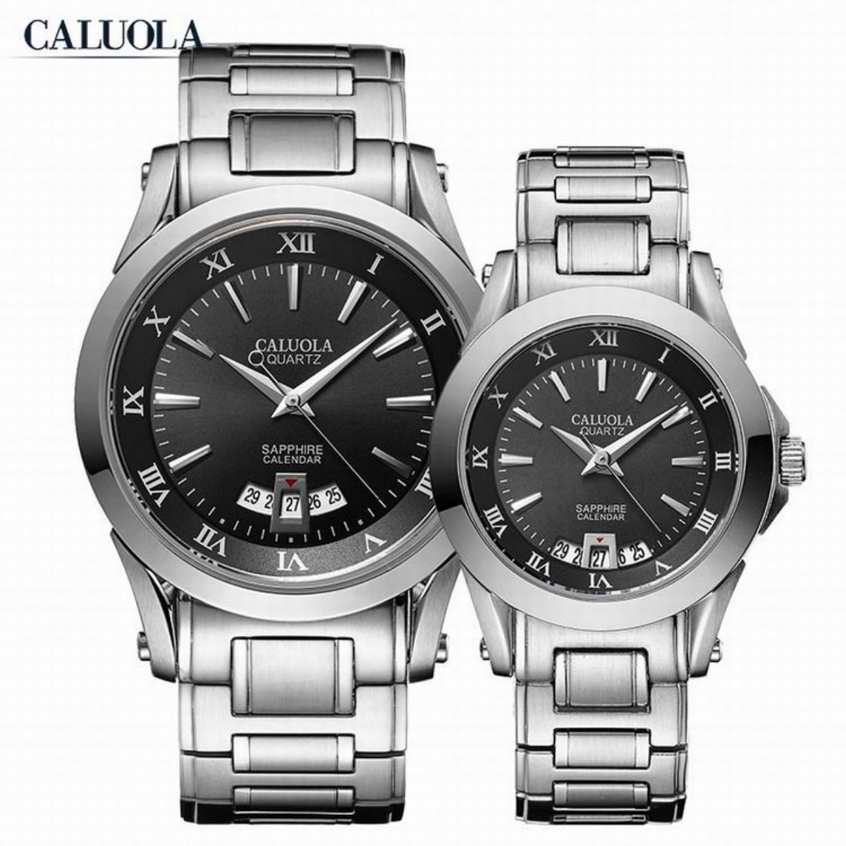 Caluola Couple Watch 40/28mm Steel CA1006