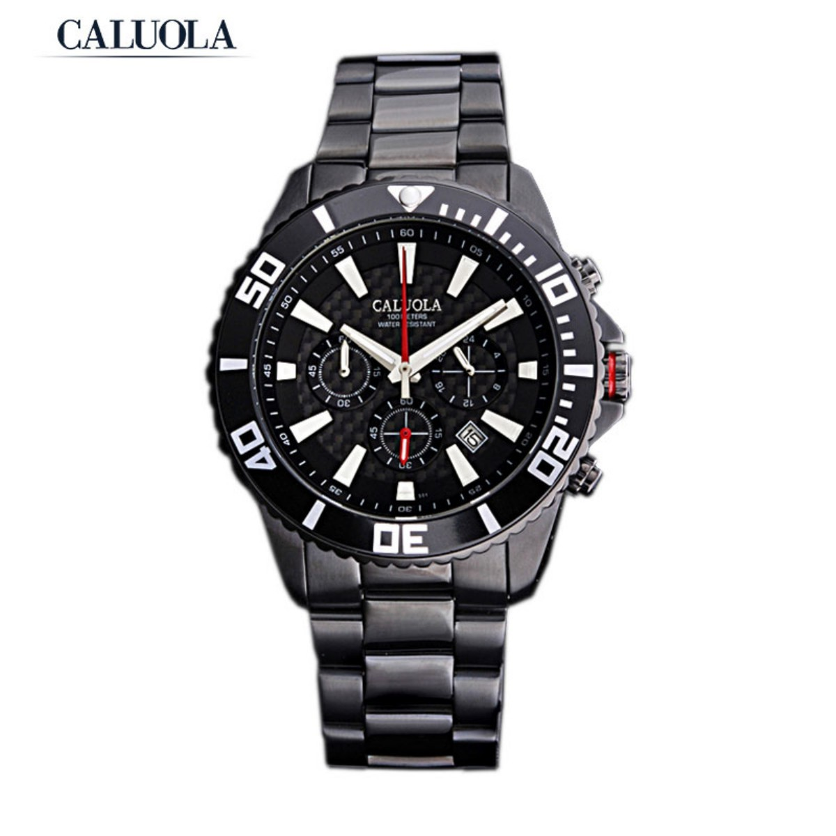 Caluola Men Watch 43mm PVD CA1040