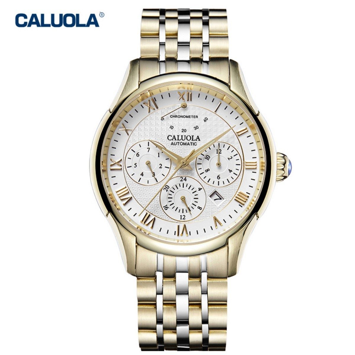 Caluola Men Watch 40mm Two Tone CA1149