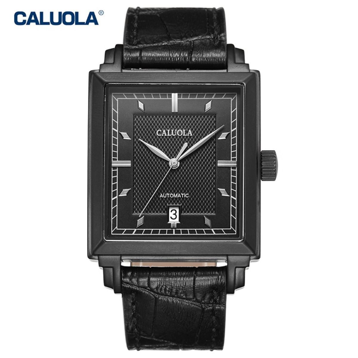Caluola Men Watch 38mm PVD CA1177