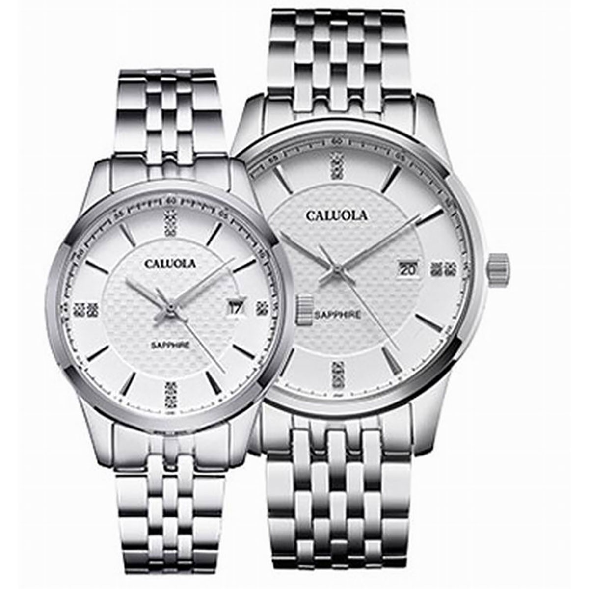 Caluola Couple Watch 40/30mm Steel CA1196