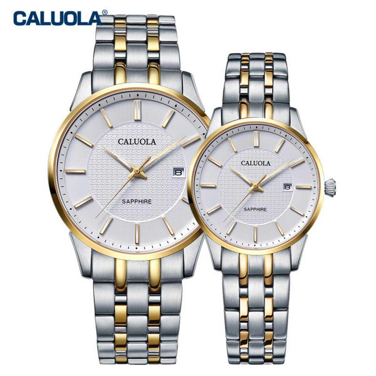 Caluola Couple Watch 41/28mm Steel CA1215