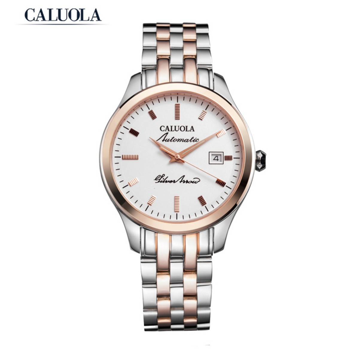 Caluola Men Watch 41mm Steel /Rose Gold CA1079MM