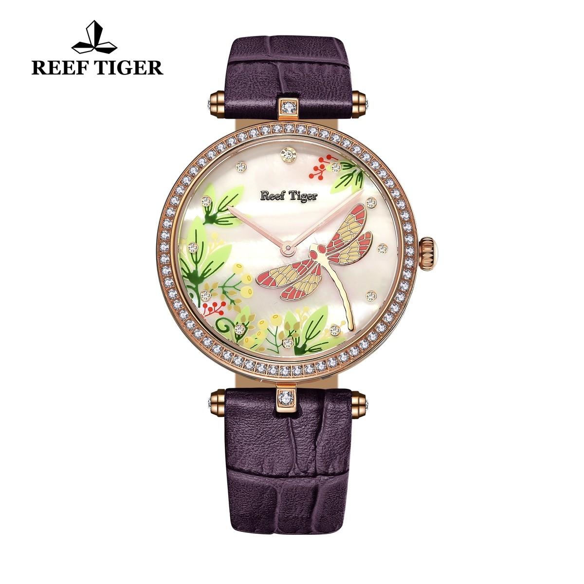 Love Florilege 39mm Rose Gold RGA151-PWPUD