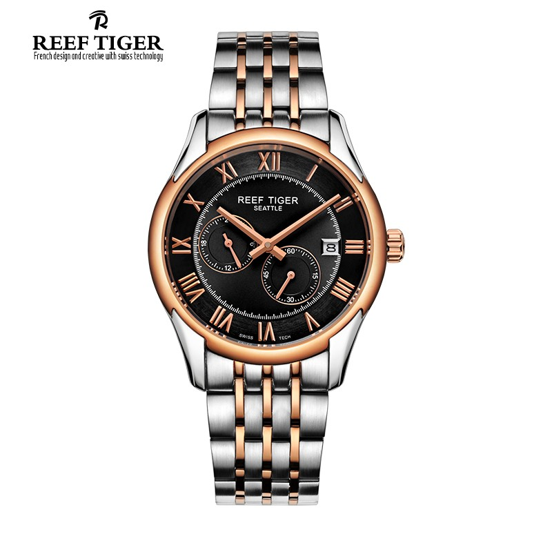 Seattle Time Vision 39mm Rose Gold Steel RGA165-TBT