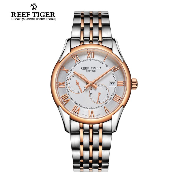 Seattle Time Vision 39mm Rose Gold Steel RGA165-TWT
