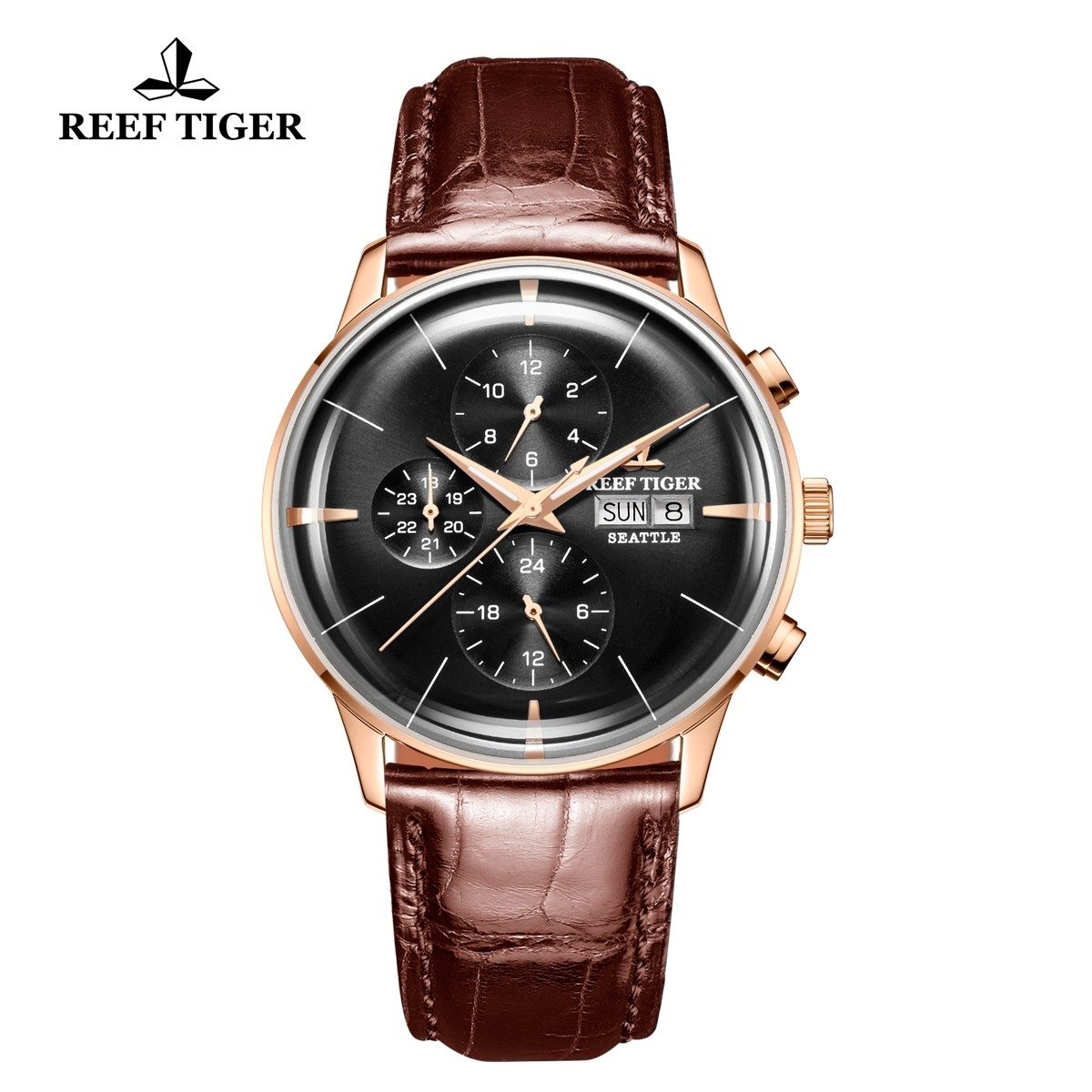 Seattle Chief 42mm Rose Gold RGA1699-PBS