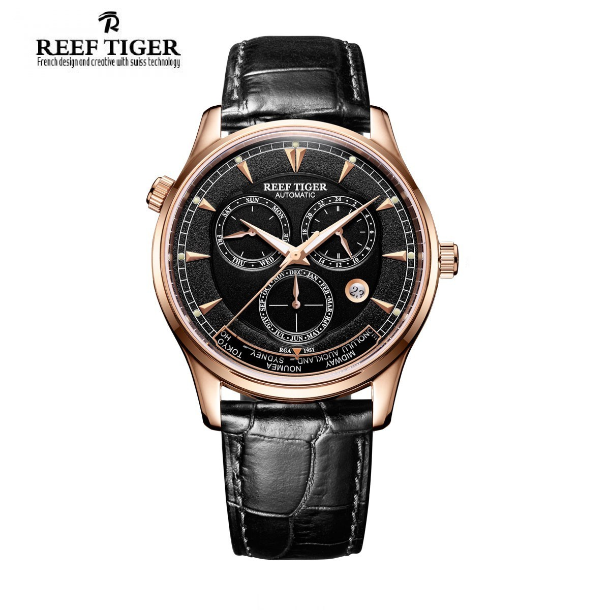 Artist Geographer World Time 41mm Rose Gold RGA1951-PBB