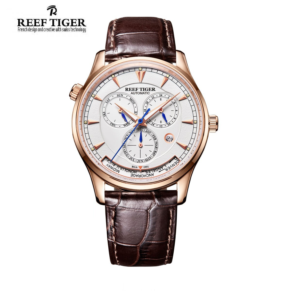 Artist Geographer World Time 41mm Rose Gold RGA1951-PWB