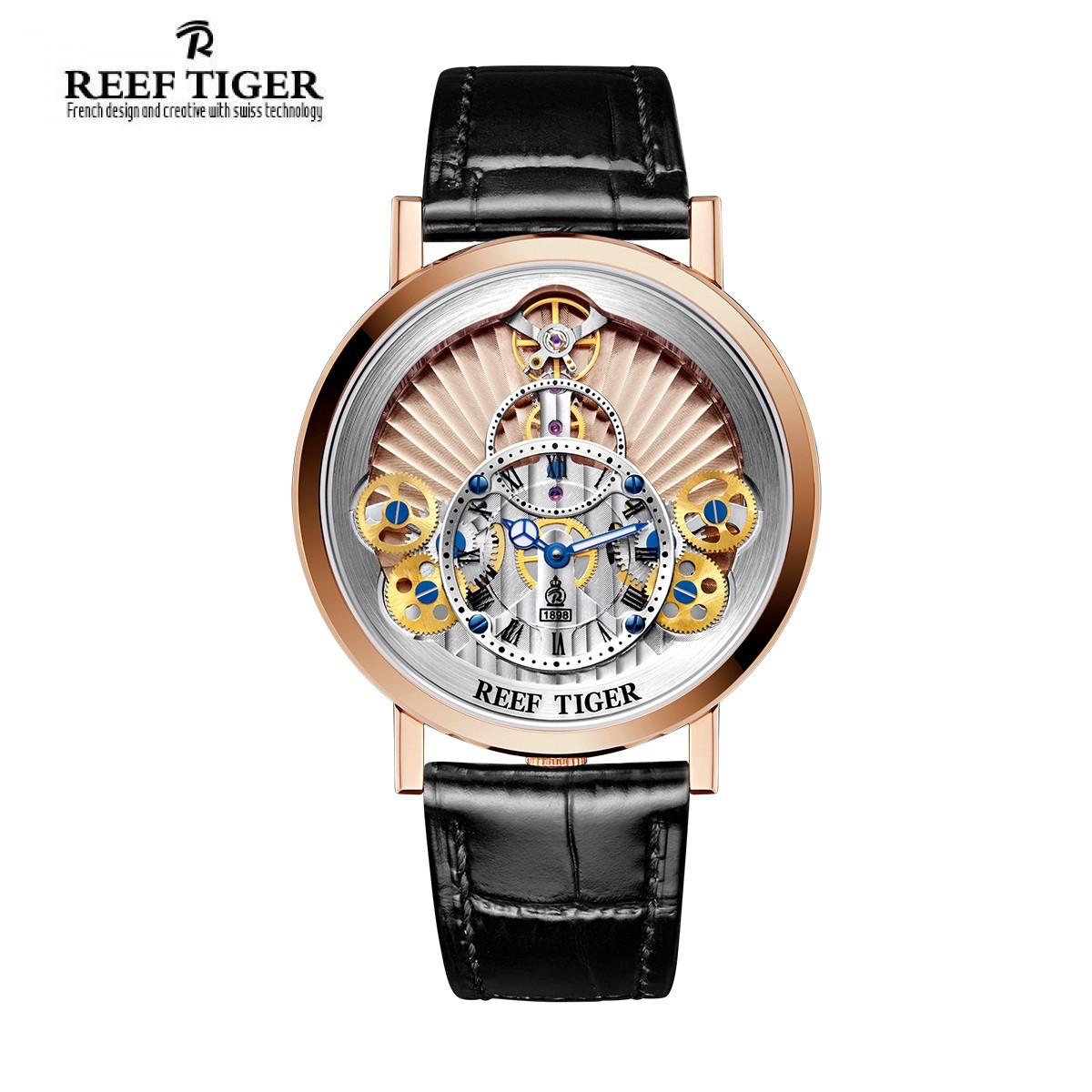Artist Rotation 43mm Rose Gold RGA1958-PPB