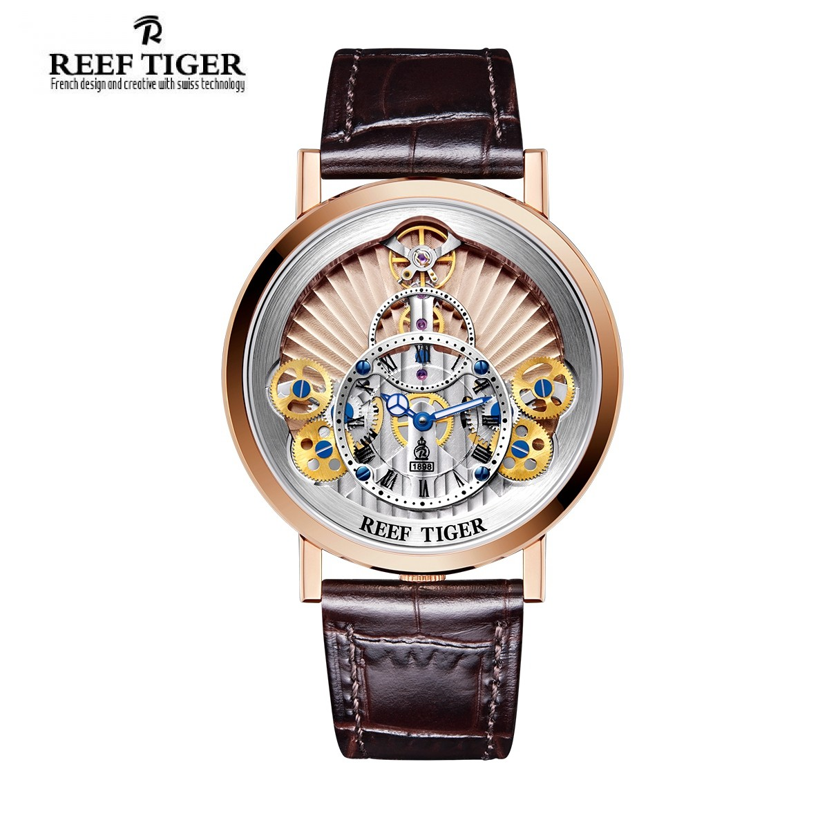Artist Rotation 43mm Rose Gold RGA1958-PPS