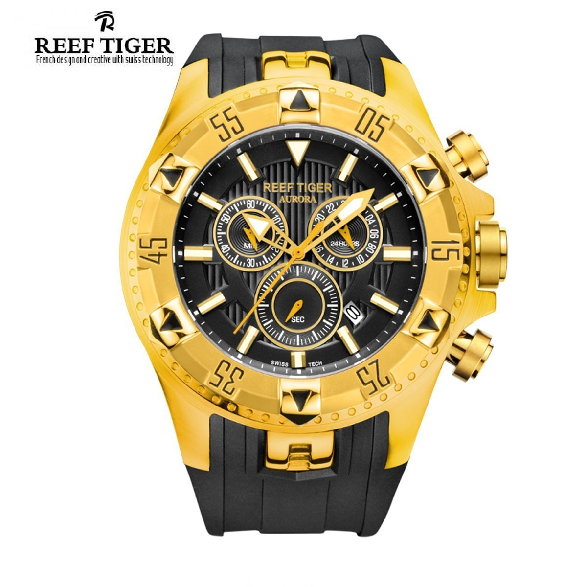 Aurora Hercules 52mm Yellow Gold RGA303-YGB
