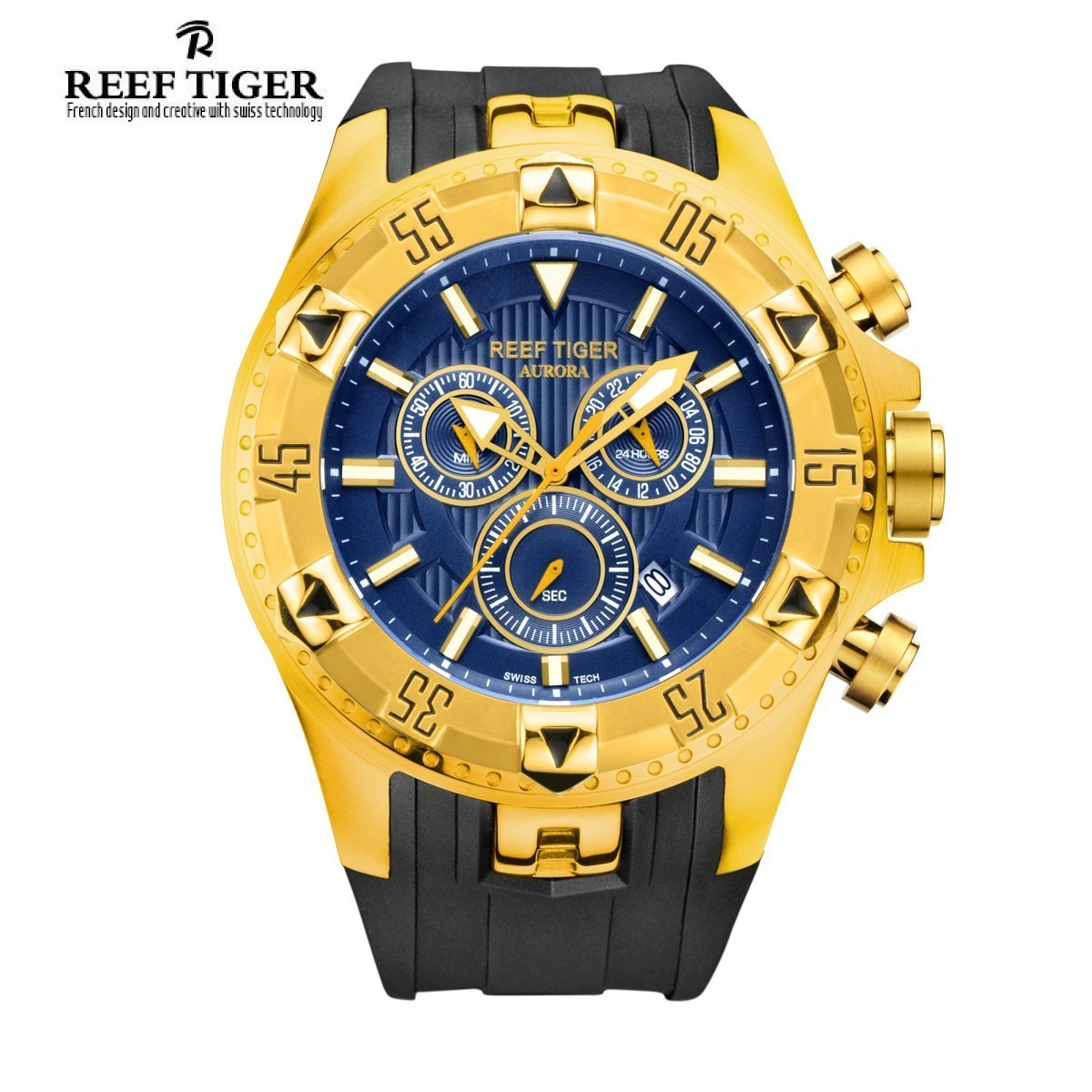 Aurora Hercules 52mm Yellow Gold RGA303-YGL