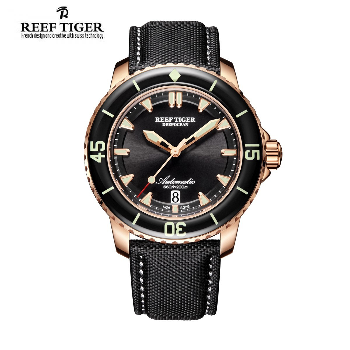 Aurora Deep Ocean 44.5mm Rose Gold RGA3035-PBBW