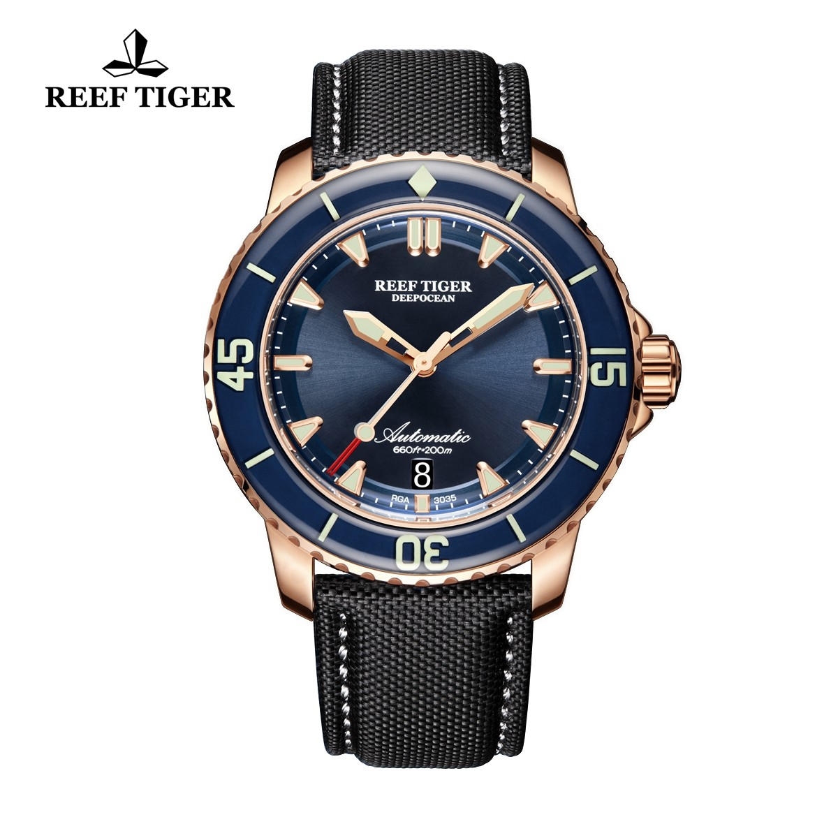 Aurora Deep Ocean 44.5mm Rose Gold RGA3035-PLB