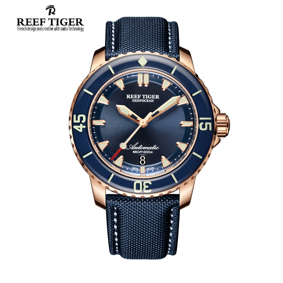 Aurora Deep Ocean 44.5mm Rose Gold RGA3035-PLL