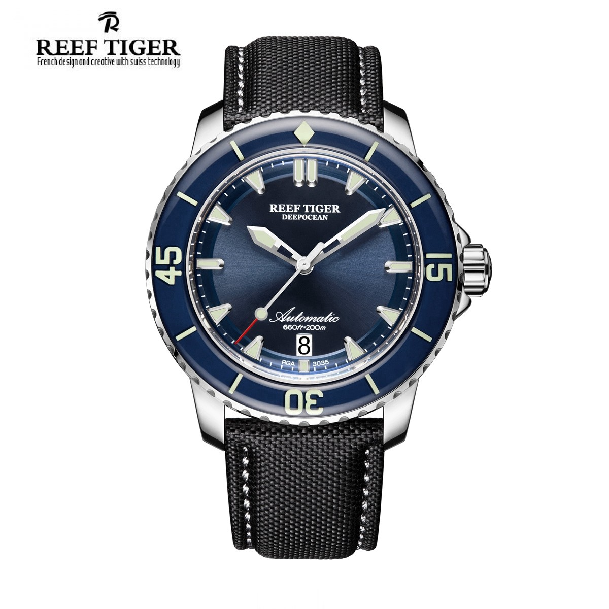 Aurora Deep Ocean 44.5mm Steel RGA3035-YLBW