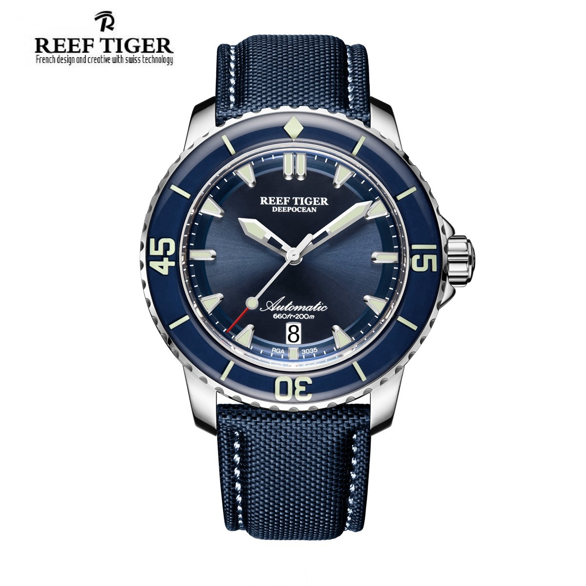 Aurora Deep Ocean 44.5mm Steel RGA3035-YLLW