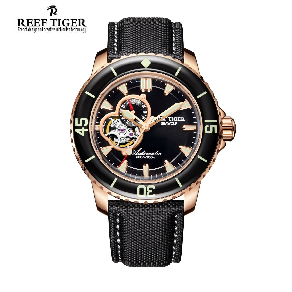 Aurora Sea Wolf 44mm Rose Gold RGA3039-PBB