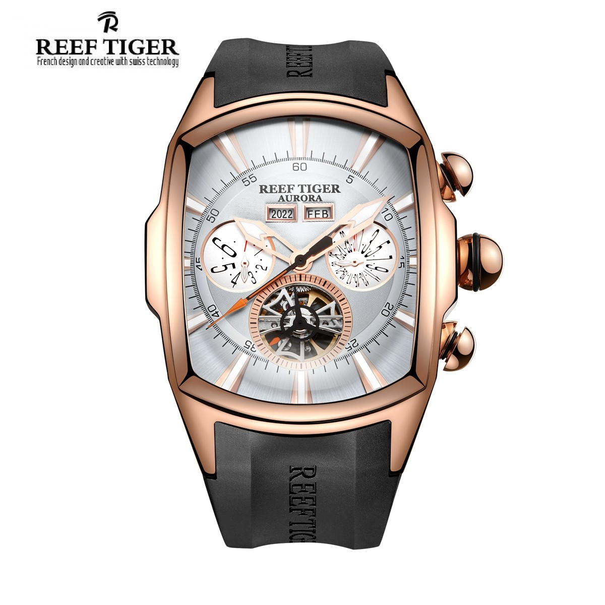 Aurora Tank II 45x19 mm Rose Gold RGA3069-PWB