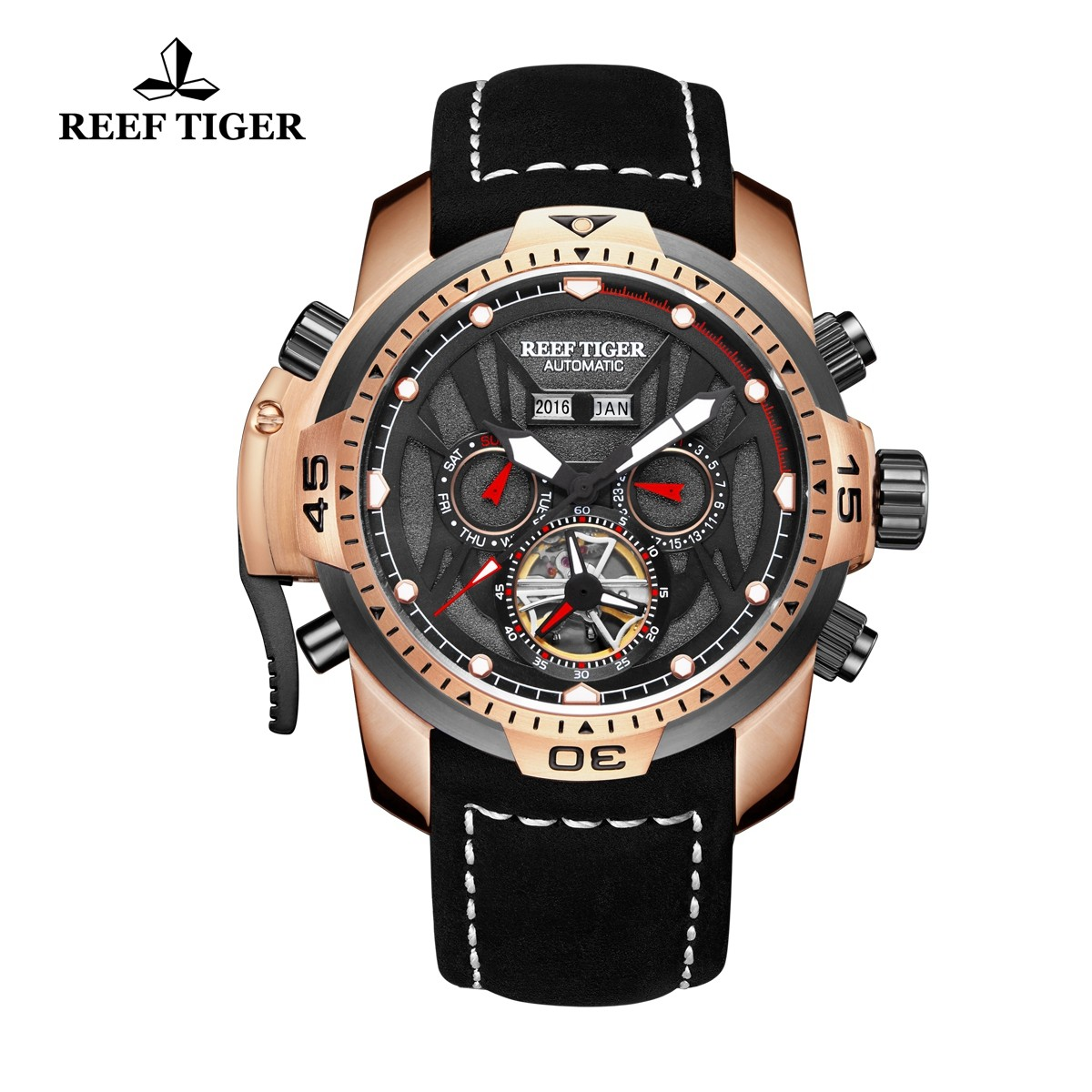 Aurora Transformer 46mm Rose Gold RGA3532-PBBLR