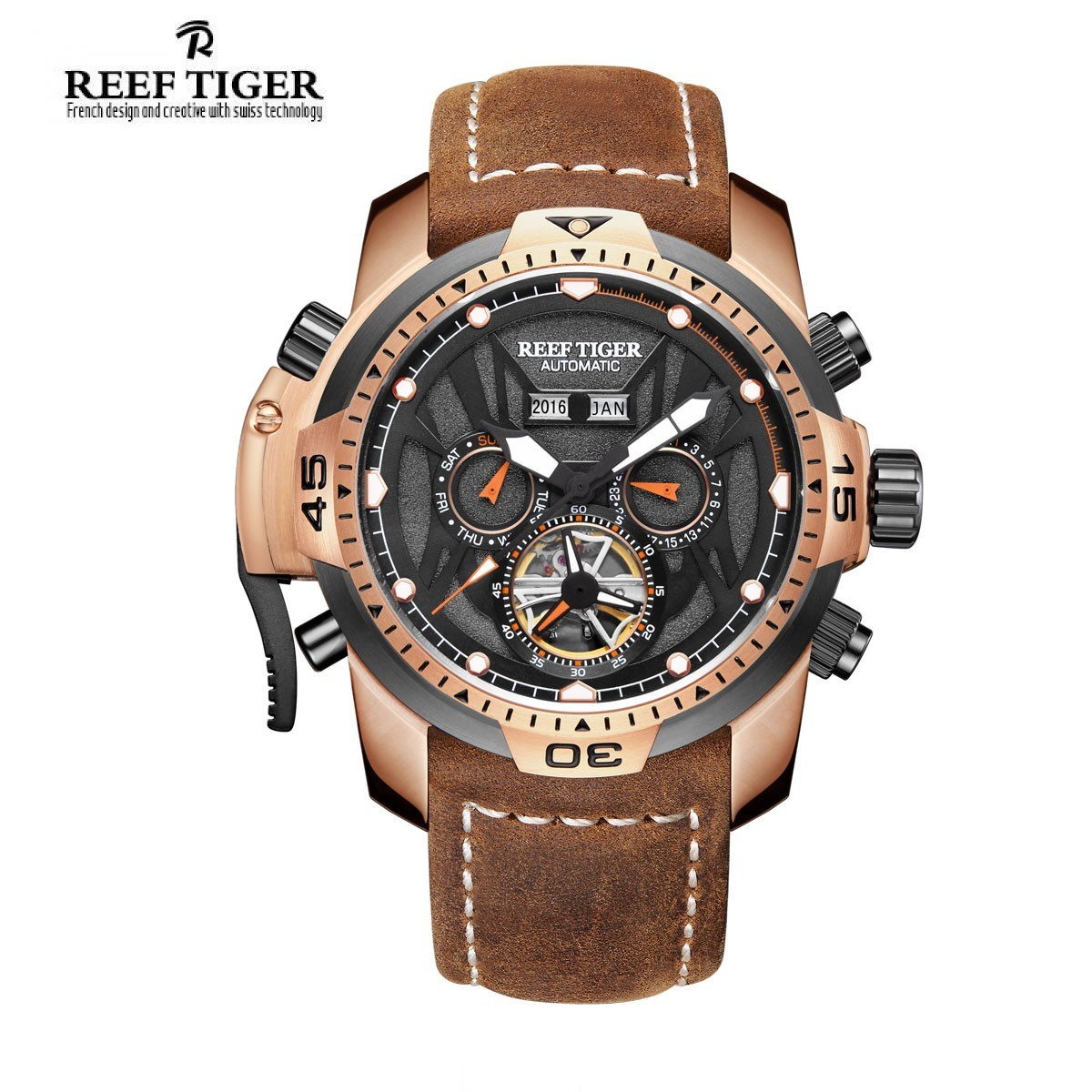 Aurora Transformer 46mm Rose Gold RGA3532-PBRO