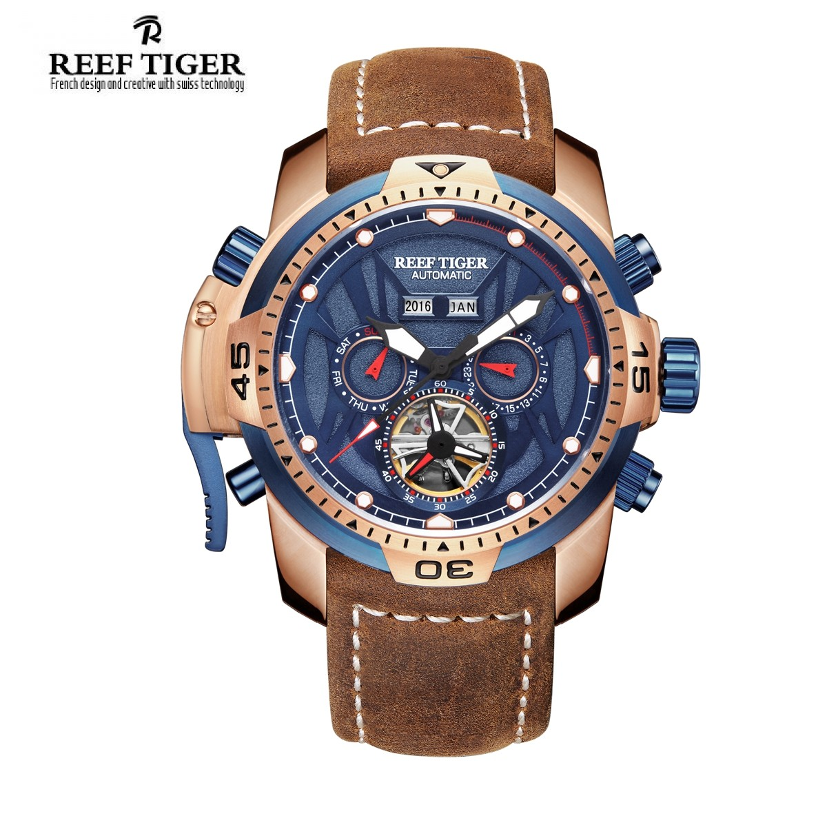 Aurora Transformer 46mm Rose Gold RGA3532-PLSR