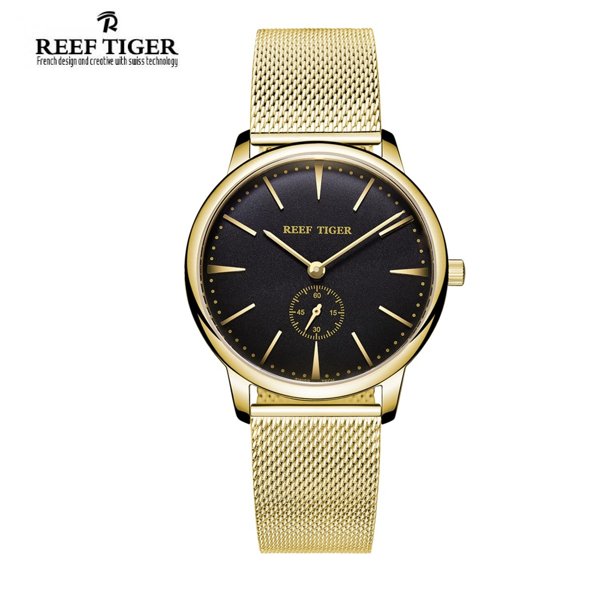 Classic Vintage 40mm Yellow Gold RGA820-MGBG